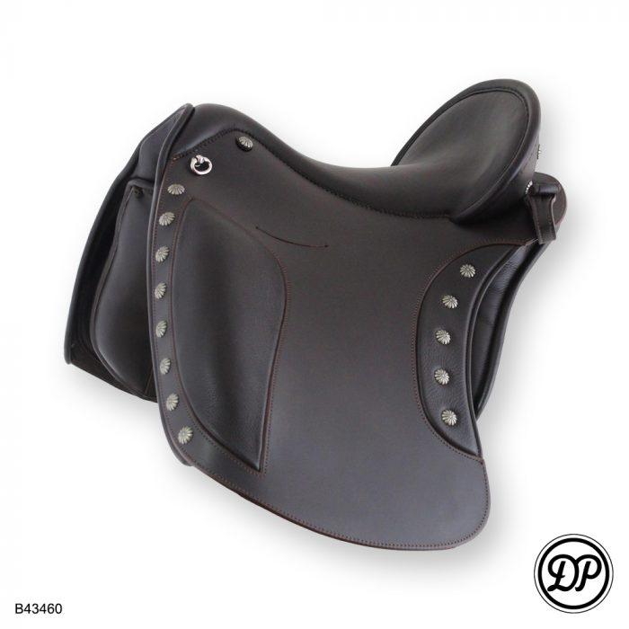 Deuber El Campo shorty, Sattelleder HB2, Sitz-/Polsterleder Nubuk braun, ohne Zierbeschläge