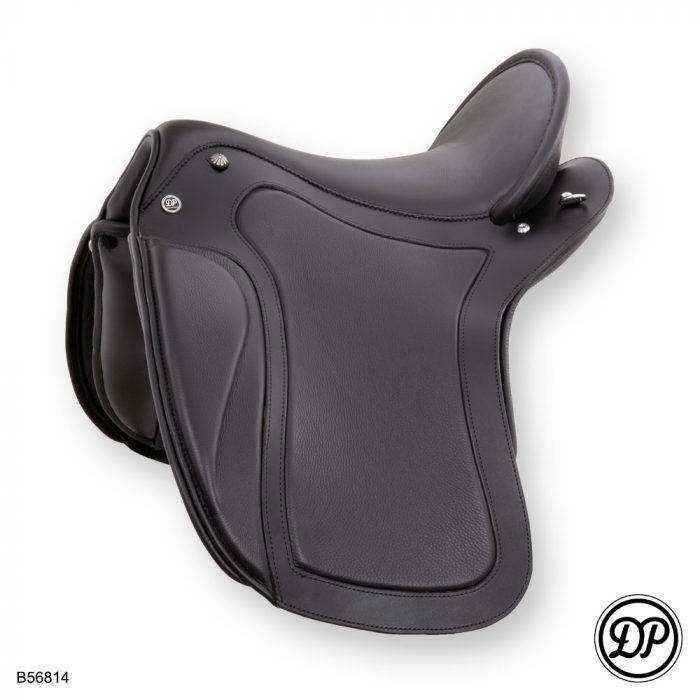 Deuber Impuls SKL, Sattelleder schwarz, Sitz-/Polsterleder Nappa schwarz, Beschläge silber
