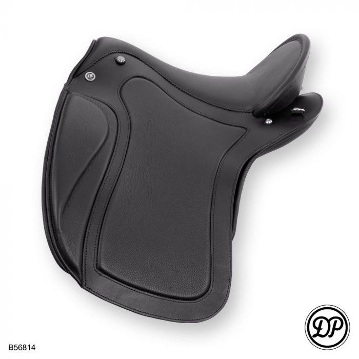 Deuber Impulse SKL, Sattelleder schwarz, Sitz-/Polsterleder Nappa schwarz, Beschläge silber